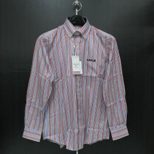 バジエ 長袖ボタンダウンシャツ 白/ピンク/青 9120-1009-11 VAGIIE|wanwan