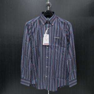 バジエ 長袖ボタンダウンシャツ 青/紺 9120-1009-11 VAGIIE|wanwan