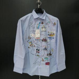バジエ 長袖シャツ 水色 9120-1012-55 VAGIIE|wanwan