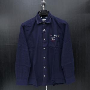 バジエ 長袖シャツ 紺 9120-1027-53 VAGIIE|wanwan