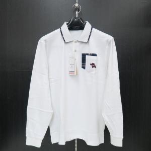 バジエ 襟付き長袖Tシャツ 白 9120-2031-10 VAGIIE|wanwan