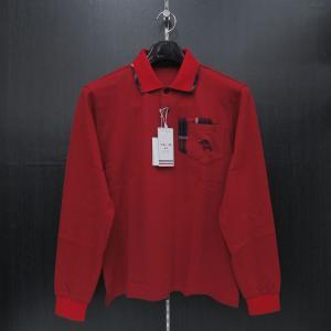 バジエ 襟付き長袖Tシャツ 赤 9120-2031-60 VAGIIE|wanwan