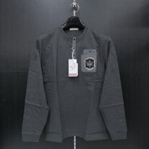 バジエ ヘンリーネック長袖Tシャツ グレー 9120-2051-21 VAGIIE|wanwan