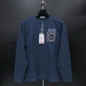 バジエ ヘンリーネック長袖Tシャツ 青 9120-2051-51 VAGIIE|wanwan
