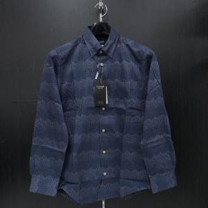 バラシ 長袖スナップダウンシャツ 青/黒 9150-1002-51 barassi|wanwan