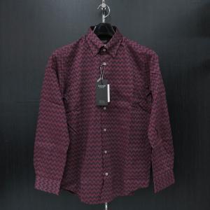 バラシ 長袖スナップダウンシャツ 赤/青/黒 9150-1002-61 barassi|wanwan
