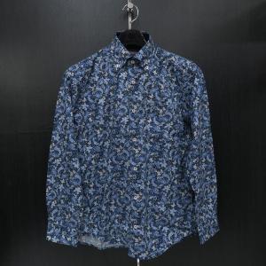 バラシ 長袖ボタンダウンシャツ 青/紺/白 9150-1008-51 barassi|wanwan
