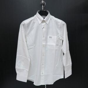 バラシ 長袖スナップダウンシャツ 9150-1012-10 白  barassi|wanwan