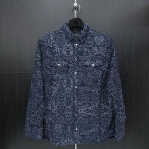 バラシ 長袖シャツ 9150-1051-51 紺  barassi|wanwan