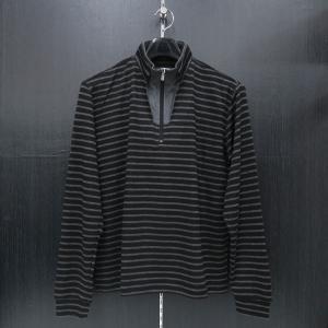 バラシ 長袖ハ-フジップTシャツ 黒/グレー 9150-2002-21 barassi|wanwan