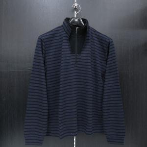 バラシ 長袖ハ-フジップTシャツ 紺/黒 9150-2002-51 barassi|wanwan