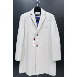バラシ 本革ロングジャケット 白 48-50サイズ 9150-8281-10 barassi|wanwan