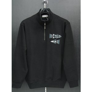 サンタフェ ハーフジップトレーナー 黒 92150-019 santafe 3Lサイズ wanwan