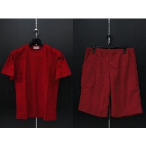 サンタフェ ジャガード半袖Tシャツ上下セット 赤 50サイズ 93112-066 santafe|wanwan
