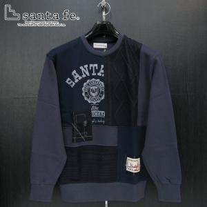SALE30%OFF サンタフェ 裏毛トレーナー 紺 50サイズ 94810-098 santafe wanwan