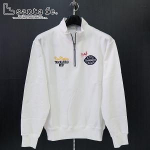 サンタフェ ハーフジップトレーナー 白 52サイズ 95404-001 santafe wanwan