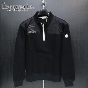 サンタフェ カノコWフェイスハーフジップトレーナー 黒 50サイズ 95409-019 santafe wanwan