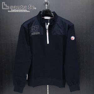 サンタフェ カノコWフェイスハーフジップトレーナー 紺 52サイズ 95409-098 santafe wanwan
