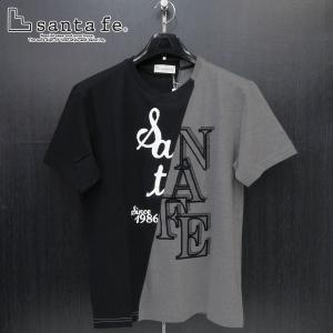 サンタフェ 半袖Tシャツ 黒/グレー 50サイズ 95806-019 santaFe|wanwan