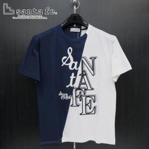 サンタフェ 半袖Tシャツ 紺/白 50サイズ 95806-098 santaFe|wanwan