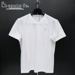 サンタフェ 半袖VネックTシャツ 白 48-50サイズ 95819-001 santaFe|wanwan