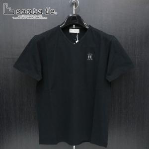 サンタフェ 半袖VネックTシャツ 黒 48-50サイズ 95819-019 santaFe|wanwan