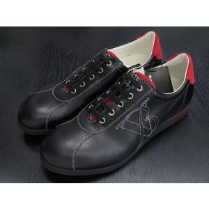 バーニヴァーノ 本革スニーカー 黒/赤 BAW-CKS1087-09 BARNI VARNO|wanwan