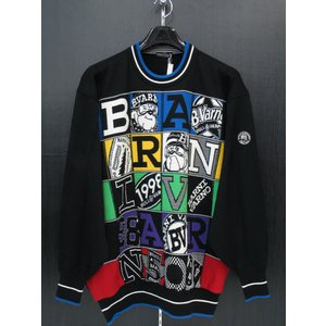 バーニヴァーノ 丸首セーター 黒 BAW-ESW1800-90 BARNI VARNO 3Lサイズ|wanwan