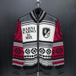 バーニヴァーノ フルジップカーディガン 白/黒/赤 LLサイズ BAW-GSW2625-45 BARNI VARNO|wanwan