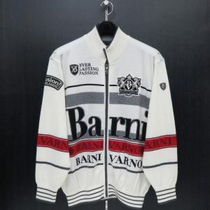 バーニヴァーノ フルジップカーディガン 白 LLサイズ BAW-GSW2628-01 BARNI VARNO|wanwan