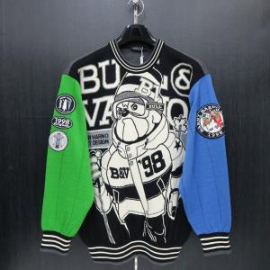 バーニヴァーノ 丸首セーター 黒 LLサイズ BAW-GSW2630-09 BARNI VARNO|wanwan