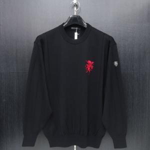 バーニヴァーノ 丸首セーター 黒 LLサイズ BAW-GSW2634-09 BARNI VARNO|wanwan