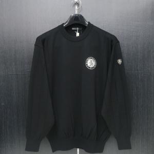 バーニヴァーノ 丸首セーター 黒 M/Lサイズ BAW-GSW2635-09 BARNI VARNO|wanwan
