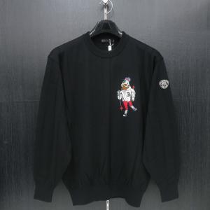 バーニヴァーノ 丸首セーター 黒 M/Lサイズ BAW-GSW2636-09 BARNI VARNO|wanwan