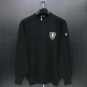 バーニヴァーノ 丸首セーター 黒 M/Lサイズ BAW-GSW2637-09 BARNI VARNO|wanwan