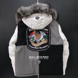 バーニヴァーノ ダウンジャケット LLサイズ 白 毛皮 BAW-HDB3002-01 BARNI VARNO 新作|wanwan