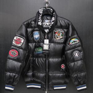 バーニヴァーノ ダウンジャケット 黒 LLサイズ BAW-HDB3005-09 BARNI VARNO 新作|wanwan