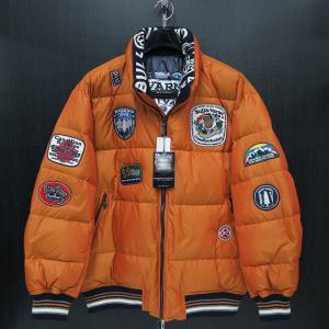 バーニヴァーノ ダウンジャケット オレンジ LLサイズ BAW-HDB3005-27 BARNI VARNO 新作|wanwan