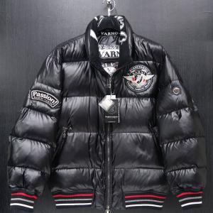 バーニヴァーノ ダウンジャケット LLサイズ 黒 新作 BARNI VARNO BAW-HDB3006-09|wanwan