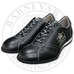 バーニヴァーノ スニーカー 黒 25.5cm BAW-HKS3081-09 BARNI VARNO 靴|wanwan