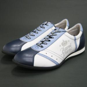 バーニヴァーノ スニーカー 白/ブルー BAW-HKS3081-63 BARNI VARNO 靴|wanwan