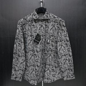 バーニヴァーノ 細コール長袖シャツ 黒 LLサイズ BAW-HSN3061-09 BARNI VARNO|wanwan