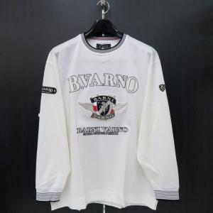 バーニヴァーノ 長袖丸首Tシャツ 白 LLサイズ BAW-HST3050-01 BARNI VARNO|wanwan