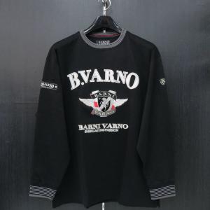バーニヴァーノ 長袖丸首Tシャツ 黒 LLサイズ BAW-HST3050-09 BARNI VARNO|wanwan