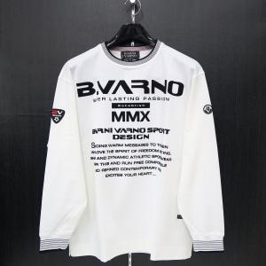 バーニヴァーノ 長袖Tシャツ 白 Lサイズ BAW-HST3053-01 BARNI VARNO|wanwan