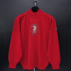バーニヴァーノ ハイネックセーター 赤 Lサイズ BAW-HSW3016-45 BARNI VARNO|wanwan