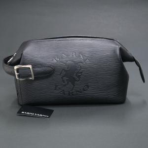 バーニヴァーノ ユニコーン型押し水シボ牛革セカンドバッグ 黒 BSS-HGB2894-90 BARNI VARNO クラッチバッグ|wanwan
