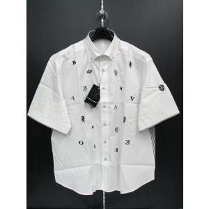 バーニヴァーノ 半袖ボタンダウンシャツ 白 BSS-FSH2058-01 BARNI VARNO 3Lサイズ|wanwan