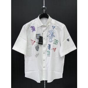バーニヴァーノ 半袖ボタンダウンシャツ 白 BSS-FSH2059-01 BARNI VARNO 3Lサイズ|wanwan