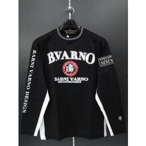 バーニヴァーノ 長袖Tシャツ 黒 BSS-FTN2027-09 BARNI VARNO 3Lサイズ|wanwan